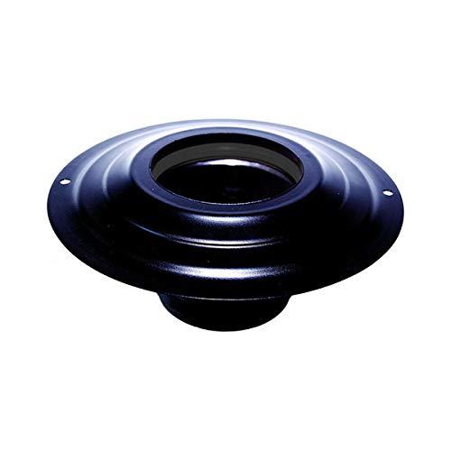 Hotte à douille DN d 100 mm. externes 230 mm. acier inoxydable enduit noir pour un poêle à granulés ou cé tube noir en bois Made in Italy