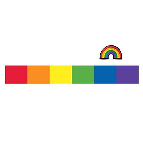 Gay Pride Rainbow STICKER DECAL VINYL BUMPER Flag Vertical Stripes equality LGBT DÉCOR CAR TRUCK LOCKER WINDOW WALL NOTEBOOK