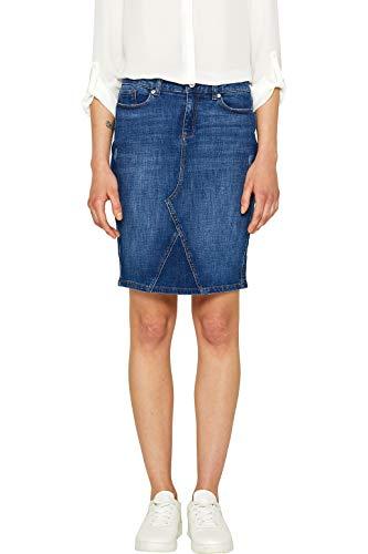 Esprit 049ee1d013 Falda, Azul (Blue Medium Wash 902), 38 (Talla del Fabricante: 36) para Mujer