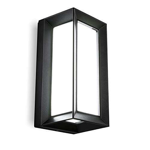 Tubc Up Down Outside Lights Outdoor Wall Light Exterior Modern Wall Lamp Garden Led Outside Wall Lighting Sconce Black Fixtures Wall Mount Lamp Ip65 Waterproof for Indoor Outdoor Porch Patio, 12W Coo
