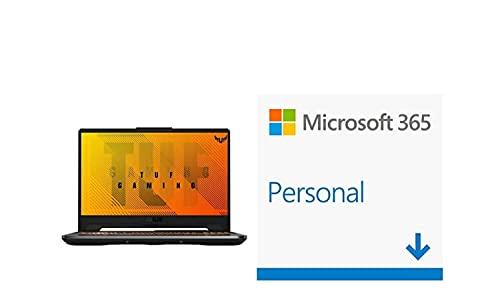 """ASUS TUF Gaming F15 FX506LH-HN042T - Portátil Gaming de 15.6"""" FullHD 144Hz + Microsoft Office 365 Personal   Código de activación enviado por Email"""