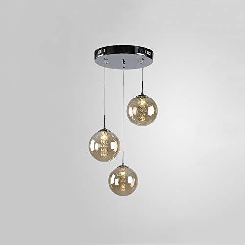 CBJKTX Pendelleuchte esstisch Pendellampe Höheverstellbar Kronleuchter Hängeleuchte 3-Flammig aus Glas Küchen Wohnzimmerlampe Schlafzimmerlampe Flurlampe