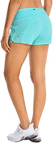 PJA - Pantalones cortos deportivos para mujer, con bolsillo con cremallera, 10,16 cm, Primavera-Verano, Mujer, color Hydra Azul, tamaño 36