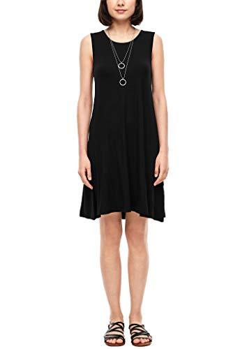 s.Oliver Damen Jerseykleid mit Rückenausschnitt black 46