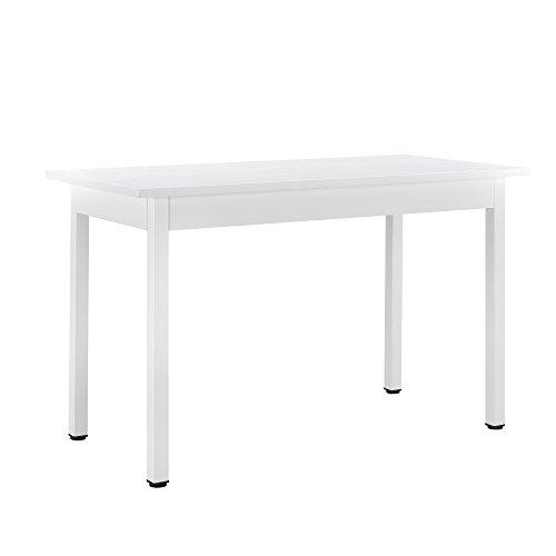 [en.casa] Moderner Esstisch Weiß 120x60cm 4 Personen Tisch Esszimmertisch Küchentisch