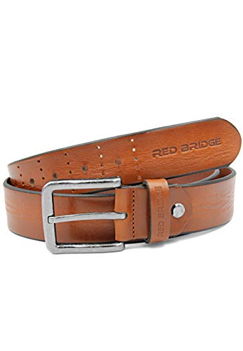 Red Bridge Herren Gürtel Echtleder Ledergürtel Leather Belt Scratched Taba 95