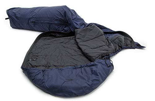 Carinthia TSS Outer 2021 Quechua - Saco de dormir (talla M, cremallera derecha), color azul marino y negro
