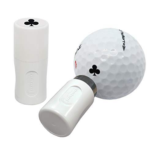 Asbri - Timbro per palline da golf, colore: Nero