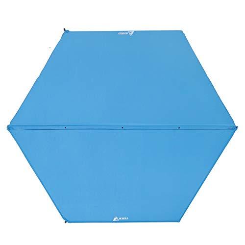 Camping Tente de Camping Gonflable pour Matelas Gonflable CELINEZL Hewolf 1783 Hexagonal à épaississement Automatique, Taille: 208x248cm (Bleu) (Couleur : Blue)