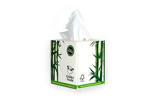 The Cheeky Panda Kosmetiktücher aus Bambus | 56 Papiertaschentücher | 3-Lagig | Quadratische Box | Hypo-Allergen | Plastikfrei | Nachhaltig & Umweltfreundlich | Super Sanft | Reißfest