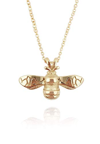 Nikita By Niki  Quality 18K Bumble Bee Pendant Necklace (Gold) Gift Box