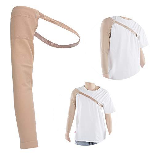 Manga de compresión posterior a la mastectomía, manga elástica para linfedema, hinchazón del brazo, linfedema del brazo, edema, soporte para el brazo para prevenir el linfedema del brazo y otros(S)