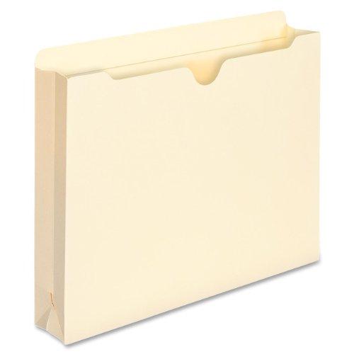 "Smead File Jacket, Reinforced Tab, 2"" Expansion, Letter Size, Manila, 10 per Pack (75692)"