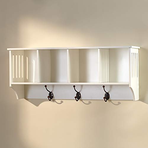 Accents Depot Entryway Wall Shelf - White