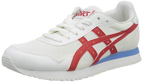 Asics Tiger Runner, Zapatillas Hombre, White/Classic Red, 46.5 Eu