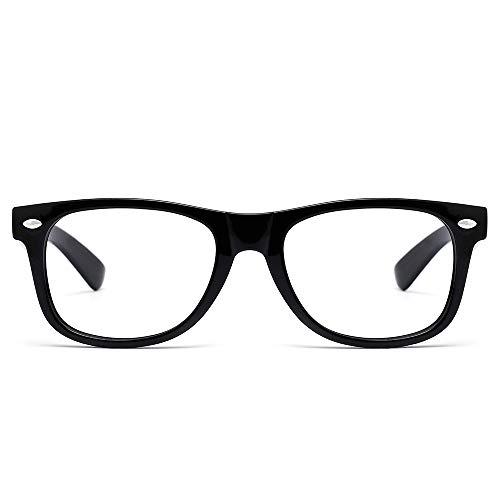 Cyxus Blue Light Blocking Glasses for Kids Anti Eyestrain Eyewear UV Protection Eyeglasses Black Frame