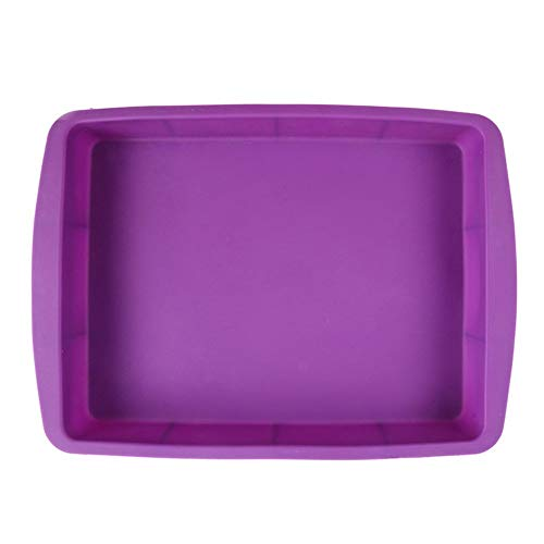 Milcraft Silicone Rectangular Cake Pans Easy Demoulding, 13 by 9-Inch,Purple,Non-Stick European-Grade Silicone