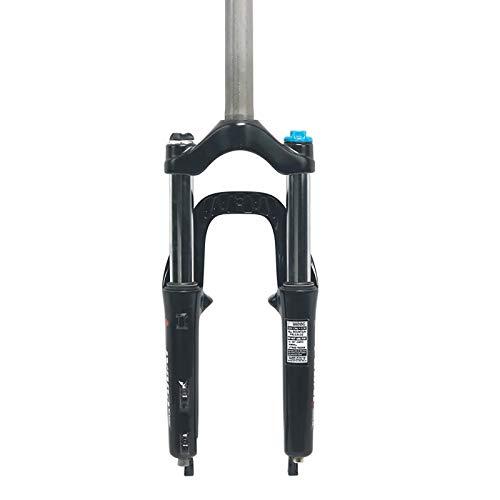Horquilla BMX De 20 Pulgadas Aluminio MTB Bicicleta Horquilla Delantera Aleación Supensión De Montaña Plegable Amortiguador Rebote Ajuste Tubo Recto Horquilla De Aire