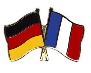 Freundschaftspin Fahnenpin Flaggenpin verschiedener Länder mit Deutschland (1, Deutschland-Frankreich)