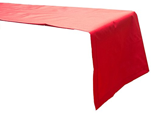 Beo Outdoor tafelkleden waterafstotende tafelloper, hoekig, 120 x 45 cm, rood