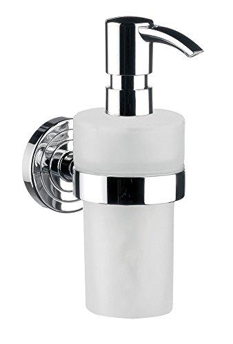 Emco 72100102 polo Flüssigseifenspender, Inhalt 245 ml, Pumpkopf chrom, Behälter Kunststoff weiß, Höhe 171 mm