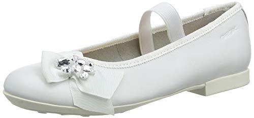 Geox Mädchen JR PLIE' C Geschlossene Ballerinas, Weiß (White C1000), 39 EU