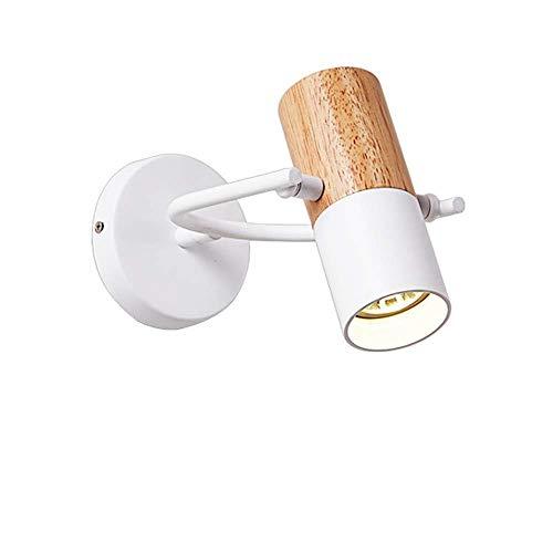 Rindasr slaapkamer-wandlamp, leeslamp, aan de muur bevestigde smeedijzeren lampenkap, designerserie/LED-wandlamp, energiebesparing en milieuvriendelijk