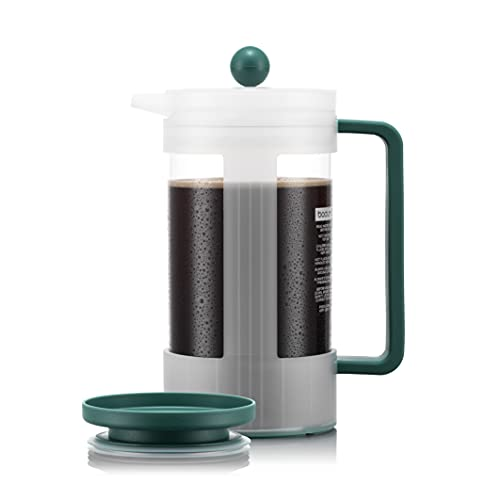 BODUM K12084-450S-143-Y21 BEAN Prensa de café sostenible 1.0l, 34oz, con tapa Yohki