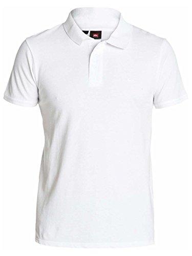 Quiksilver Torfino - Polo - Uni - Manches courtes - Homme - Blanc (White) - XX-Large (Taille fabricant: XXL)