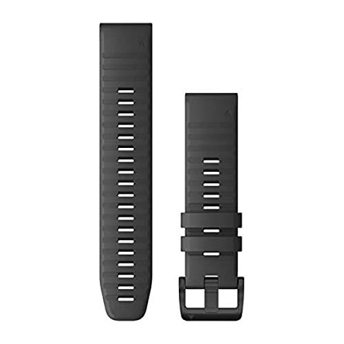 Garmin Quickfit 22 Watch Band, Slate Gray Silicone with Black Hardware (010-12863-22)