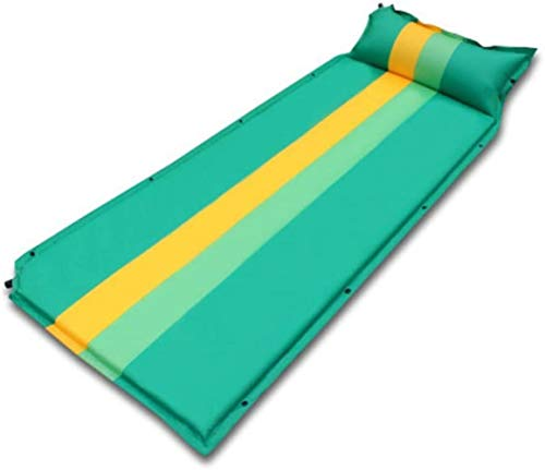 PRIDE S Luftmatratze automatische aufblasbare Kissen Außen Mat Thick Doppelzelt Feuchtigkeitsfeste Auflage bewegliche Schlafenmatte (Color : Green)