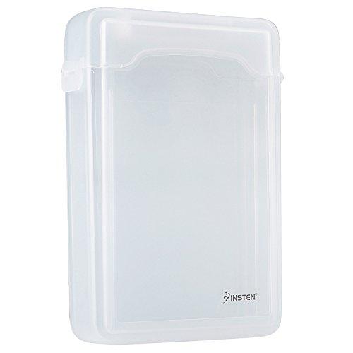 Insten 2 Packs Clear 3.5 INCH SATA HDD Hard Drive Storage Case