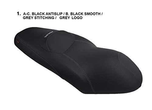Funda de Asiento para X-MAX 125/250 '06-'09 Negro-Costura Gr
