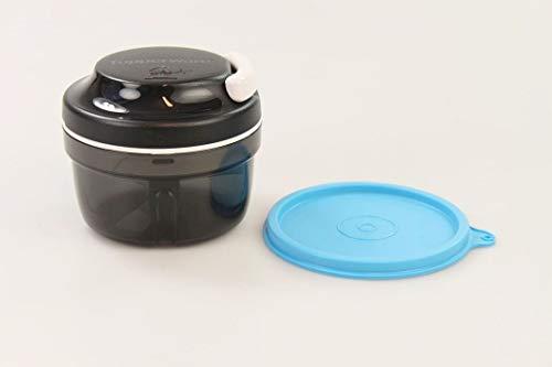 Tupperware Chef Turbo-Chef schwarz + Deckel blau Zwiebelschneider Speedy Boy 33763