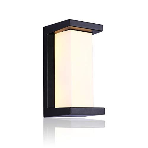 Glighone LED Wandleuchte Außen Außenlampe Warmweiß Außenbeleuchtung Wand Aluminium Gartenlampe Wasserdicht IP65 Wandlicht Außenleuchte 12W Wandlampe aussen für Terrasse, Veranda, Balkon, Flur, Hof