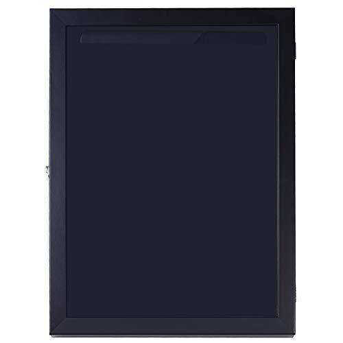 HOMCOM 24' x 32' Jersey Display Case, Memorabilia Acrylic Shadow Box with and Hanger, Black