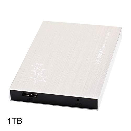 vrsupin0 Unidad de Disco Duro Y0 Portátil Móvil Add Encendido Ordenador Accesorio Externa Ultra Fino Memoria Música Vídeo 1TB 2TB Oficina B 3.0 Datos Almacenaje (1T) - como Imagen Show, 1t