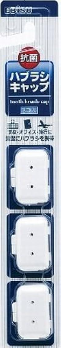 プレミアム形参加者エビス エビスハブラシキャップ抗菌 大人用 3個入り×240点セット (4901221711309)