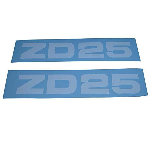 Zündapp ZD 25 Schriftzug Trittbrett Aufkleber, Ersatzteil Sticker Verkleidungs Schriftzug Dekor. Zum Oldtimer Restaurieren von Lack und Verkleidung. Alternativ zum Motorrad Emblem