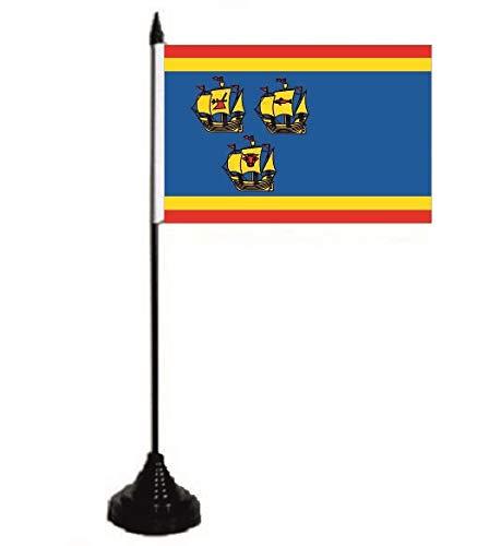 U24 Tischflagge Landkreis Nordfriesland Fahne Flagge Tischfahne 10 x 15 cm