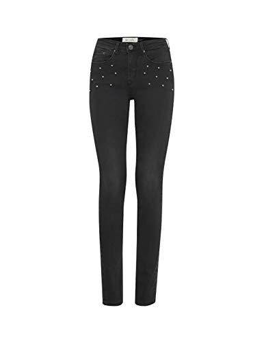 BlendShe Jeans Tachuelas Negro W30 L32 Negro (Ropa)