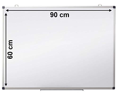 Pizarra blanca magnetica OFIBIT con marco de aluminio. (60 x 90 cm)