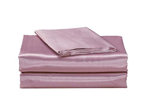 EHP Super Soft and Silky Satin Sheet Set (Solid/Deep Pocket) (Queen, Light Pink)