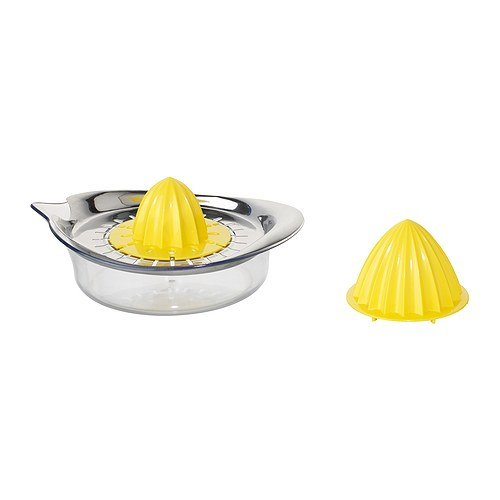 IKEA SPRITTA - Exprimidor, de acero inoxidable transparente, amarillo