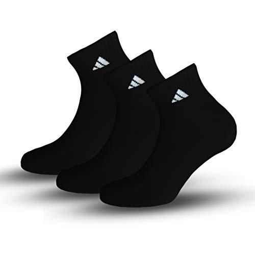adidas 3x Paar (6 Stück) No Show Socken   Unisex   Schwarz   39-42