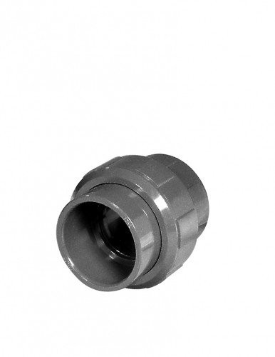PVC-Kupplung mit O-Ring, 2x Klebemuffe, 50 mm