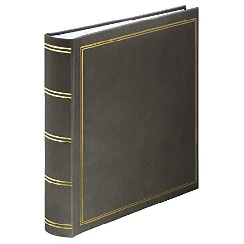 Hama Jumbo Fotoalbum London 30x30 cm (Fotobuch mit 80 weißen Seiten, Album für 320 Fotos zum Selbstgestalten und Einkleben) grau
