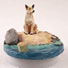 Conversation Concepts Miniature Australian Cattle Red Dog Candle Topper Tiny One A Day on The Beach