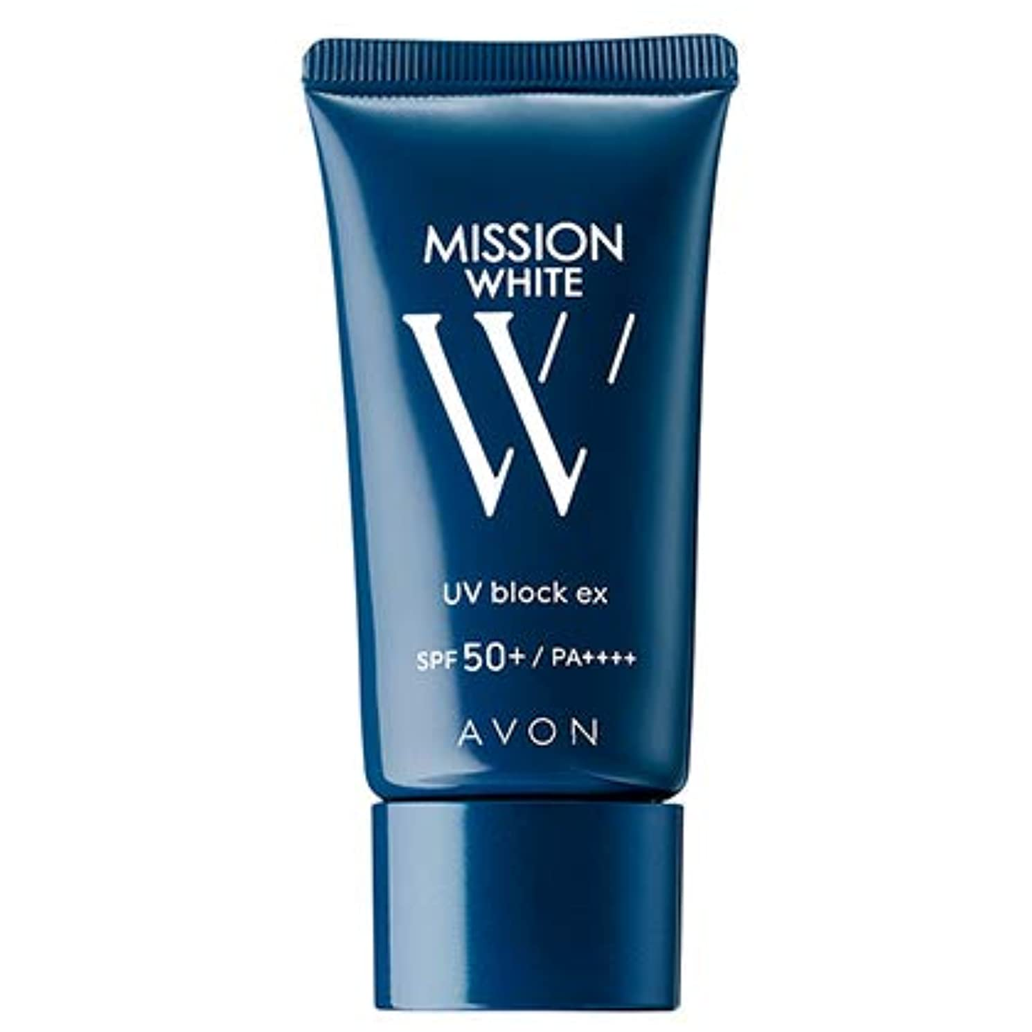 準備した友だち篭エイボン ミッション ホワイト UVブロック EX(SPF50+/PA++++)(医薬部外品) 30g