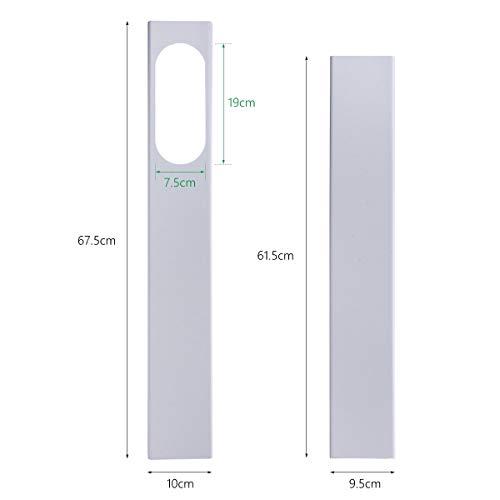 CROSYO 190 cm Adaptador de Ventana Ajustable/Kit de Deslizador de Ventana Placa Conector de Tubo de Manguera de Escape for Accesorios de Aire Acondicionado Portátil (Color : 2Pcs Window Kit)